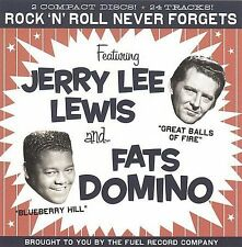 "JERRY LEE LEWIS & FATS DOMINO, 2 CD SET ""ROCK 'N' ROLL NEVER FORGETS"" NEW SEALED"