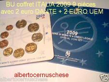 2009 9 monete EURO ITALIA BU ITALIE ITALY EMU ITALIEN