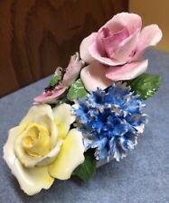 "Vintage Radnor Bone China Staffordshire England Flowers Capodimonte 3.5"" tall"