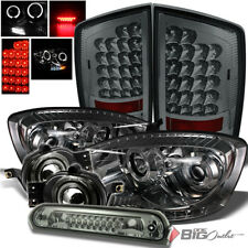 For 07-09 Ram Smoked Color Pro Headlights + Tail Lights + Pro Fog + Cargo Lamp