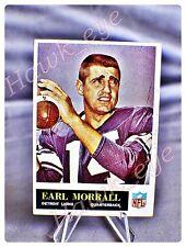 1965 Philadelphia Football Earl Morrall #65 Detroit Lions EX-NM
