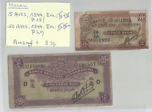 5 u. 50 Avos Macau 1944