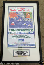 ☆ NEWPORT BEACH CA 2003 Harbor Heritage Run 5K Marathon Triathalon FRAMED POSTER