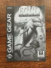 Ecco the Tides of Time Sega Game Gear Instruction Manual Only