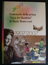 """2007  Italia  Folder """" Casa Dei Bambini di Maria Montessori  """"   MNh**"""