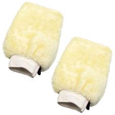 Guante De Lavado De Microfibra 2x cm cuidado de coche de Lana Guante Lavado a Mano Limpiador Suave Crema UK