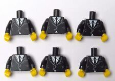 Lego 6 Torso Body For Minifigure Figure Black Suit  Jacket Saxophone  Series