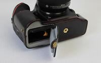 Leather half case bag grip for Nikon D5500 camera black brown coffee bottom-open