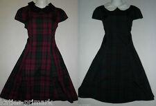PRIMARK TARTAN DRESS PETER PAN COLLAR UK SIZES 6 - 20 NEW PUSSYBOW