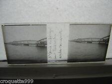 photo plaque verre STEREO St Louis du Senegal pont Faidherbe arche tournante