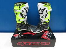 Alpinestars Tech 10 Racer MX Boots: Yellow Fluo, Black, Gray US Size 7 / EU 40.5