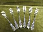 6 fourchettes de table métal argenté Ercuis LXV 29 (dinner forks)
