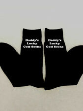 PERSONALISED MEN HUSBAND DADDY'S LUCKY GOLF SOCKS EMBROIDERED FATHER'S DAY GIFT