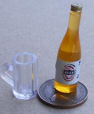 1 12 Scale Empty Mug & Bottle of Beer Dolls House Pub Bar Drink Accessory 1