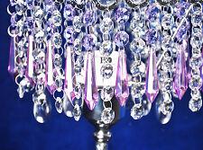 10 Purple Chandelier Glass Crystals Lamp Prisms Parts Hanging Drops Pendant 55mm