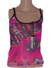 roberto cavalli maglia top canotta donna rosa stretch taglia 40 s small
