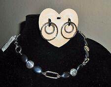 NWT NEW BRIGHTON Pebble & Pebble Cascade Necklace Earrings JE1940 JN1123