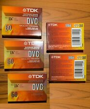 TDK DVC 60 MINUTE -DIGITAL VIDEO CASSETTES - NEW / SEALED *LOTS of 5*