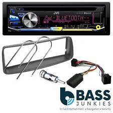 PEUGEOT 206 JVC kd-r971bt Bluetooth Auto Stereo & Volante KIT DI MONTAGGIO Piombo