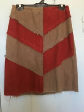 R M Williams brown and red skirt in size 8