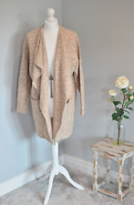 RIVER ISLAND Brown speckled waterfall jacket, UK 12