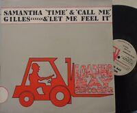 """SAMANTHA GILES ~ Time / Call Me ~ 12"""" Single PS"""