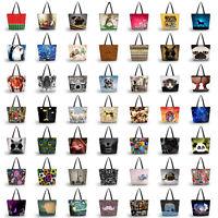 Women's Soft Large Capacity Zipper Handbag Shopping Bag Tote Shoulder Beach Bags