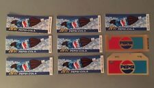 9 Super Rare Vintage Pepsi Vending Machine Tab Labels