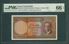 Iraq Kingdom 1947 (ND 1959)-1/2 Dinar P43 PMG 66 EPQ *VERY RARE* King Faisal II