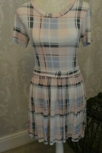 Red London check dress size S