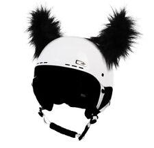 Stick-on horn for skiing helmet - Black Furry Horns - ski bike Decoration Cover