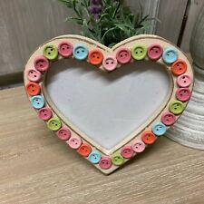 Sass & Belle Heart Photo Frame Button Decoration