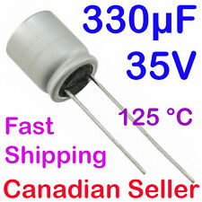 5pcs 330uF 35V 10x12mm 125C AVG IC Polymer Low ESR For Motherboard TV Main Board