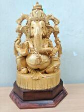 Handcarved Ganesh Ganesha Sculpture Hindu Elephant God Statue Temple Figurine