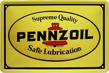 Pennzoil Motoröl Oil Reklame Blechschild 20 x 30 Retro Blech 164