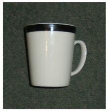 6 x TRADE WINDS TABLEWARE MUGS, WHITE WITH BLACK LINE