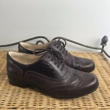 Clarks Hamble Oak4 Ladies Black Leather Brogues UK Sizes 3-8 D Fit R5A