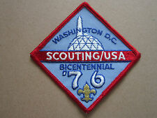 Washington DC Bicentennial 1976 BSA Woven Cloth Patch Badge Boy Scouts Scouting