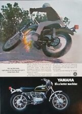 1970 Yamaha 360 RT-1 Enduro Motorcycle Photo 1970s Vintage Print Ad