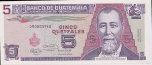 Guatemala 1991 5 Quetzales P# 74b Uncirculated