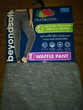 new Nwt fruit of loom waffle knit pants thermal underwear womens plus 3X 22 gray