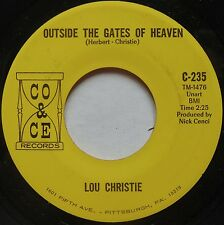 LOU CHRISTIE Outside the Gates of Heaven / All That Glitters CO & CE stock 45