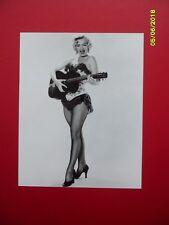 "Marilyn Monroe 8"" X 10"" B/W Gloss Photo Guitar 'River of No Return' pose image"