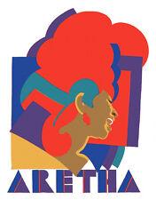 "Aretha Franklin & Bob Dylan -16x20"" Non Fade POSTER Print Replicas Milton Glaser"