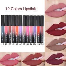 12 Colors Labial Glair Cosmetic Liquid Matte Makeup Soft Long Lasting Lip Gloss