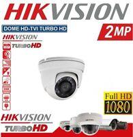 TELECAMERA DOME HD TVI HIKVISION TURBO 2.MP 1080P 3.6MM VISIONE NOTTURNA DS-T203
