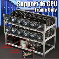 16 GPU Mining Rig Frame Case mit USB Schalter für BTC Biccoin EOS ETH