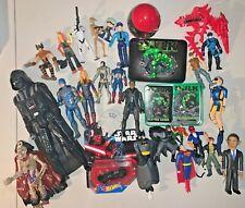 Action Figures Huge Lot of Toys Mixed Junk Drawer Star Wars, Marvel, Dc, X-Men