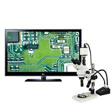 3.5X-90X 1080p Hdmi Camera Narrow Stand Zoom Stereo Microscope+Gooseneck Light