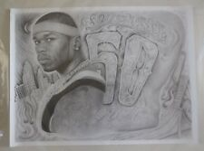 50 Cent South Side Poster 24 x 18 Sketch Art Print